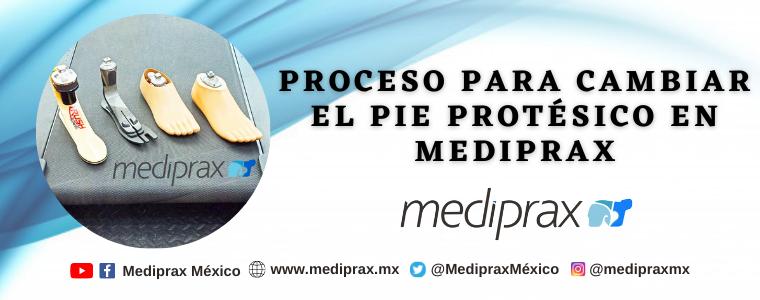 Proceso para cambiar el pie protésico en Mediprax